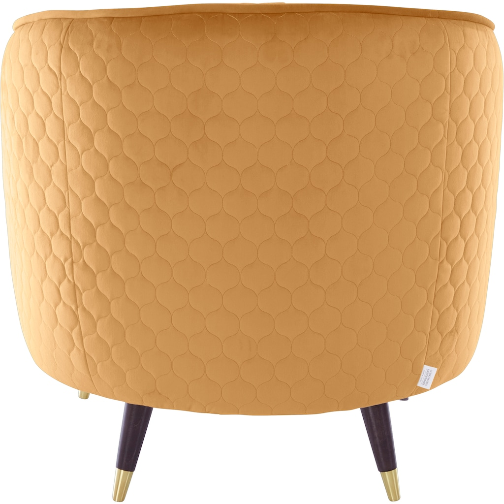 Guido Maria Kretschmer Home&Living Sessel »Oradea«, mit eleganter Steppung auf Rückseite der Rückenlehne