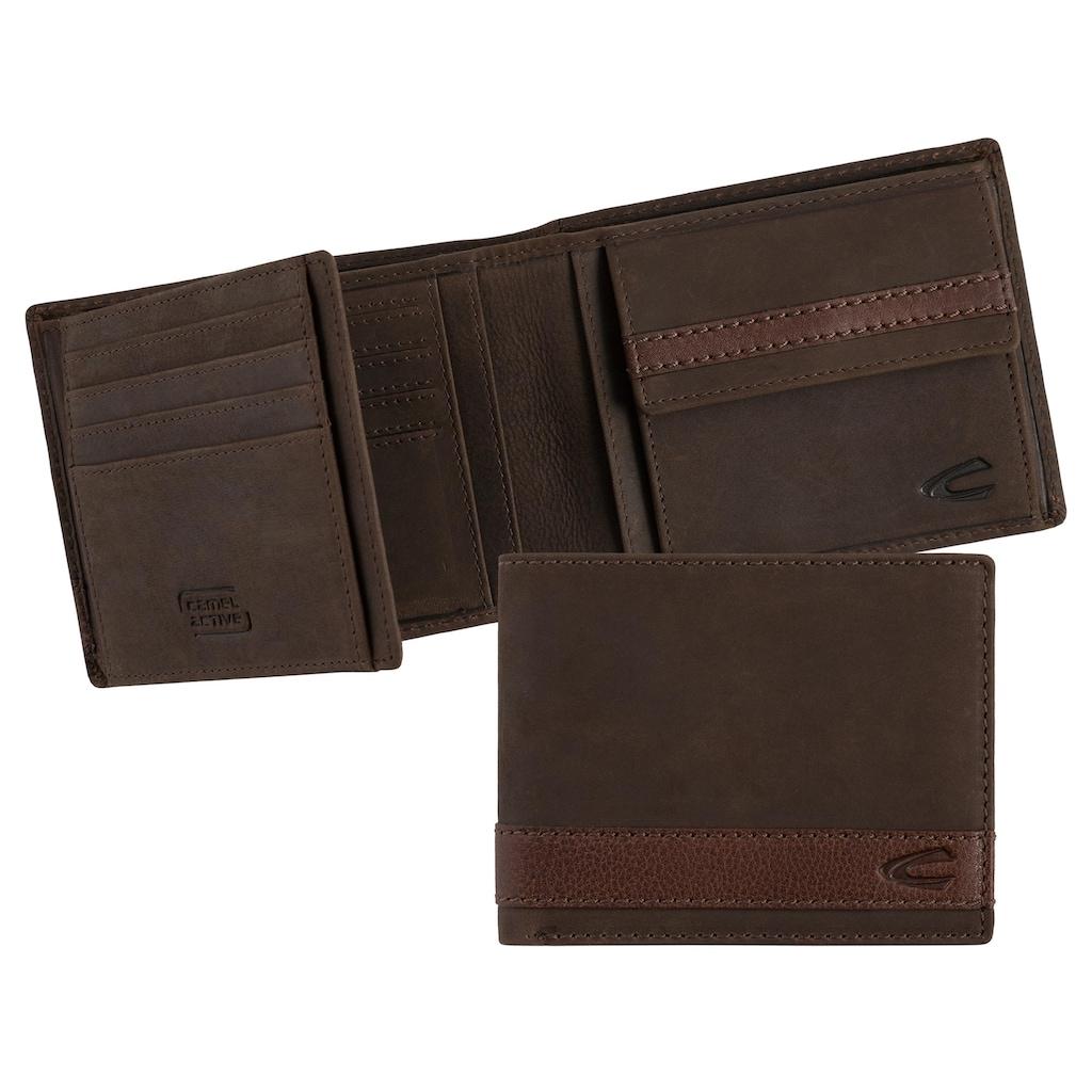 camel active Geldbörse »TAIPEH«, aus Leder mit RFID-Block für mehr Sicherheit