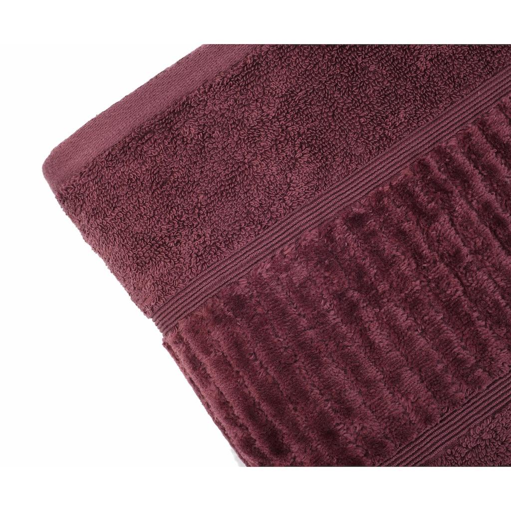 Gözze Badetuch »Uni«, (1 St.), aus GOTS zertifizierter Bio-Baumwolle
