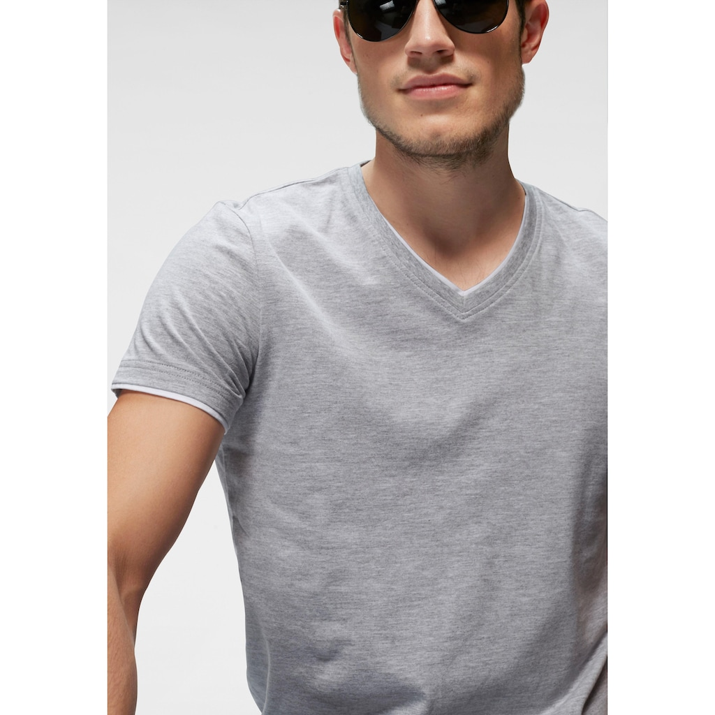 John Devin T-Shirt, mit Layereinsätzen