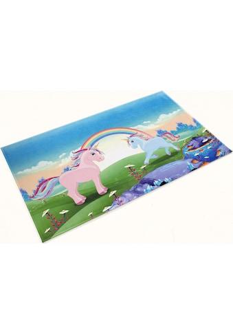 Böing Carpet Kinderteppich »Lovely Kids 419«, rechteckig, 6 mm Höhe, Motiv Einhörner kaufen