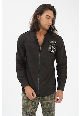 trueprodigy Langarmhemd »Ride Hard - Die Young«, mit Reissverschluss, Patch und Rückenprint kaufen