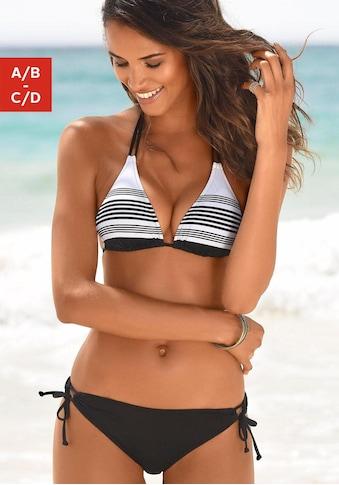 JETTE Triangel-Bikini, mit modernem Streifendesign kaufen
