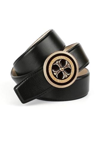 Anthoni Crown Ledergürtel, mit runder goldfarbener Schliesse kaufen