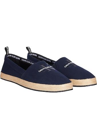 Calvin Klein Espadrille »Calvin Klein Jeans Emanuel«, mit modischer Bastumrandung kaufen