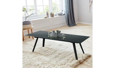 andas Couchtisch »Moritz«, mit Glastischplatte aus klarem Glas und schwarzlackiertem... kaufen