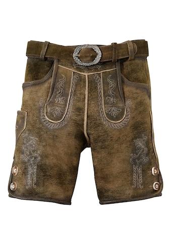 Hammerschmid Trachtenlederhose, (2 tlg., mit Gürtel), Kinder im Used Look kaufen