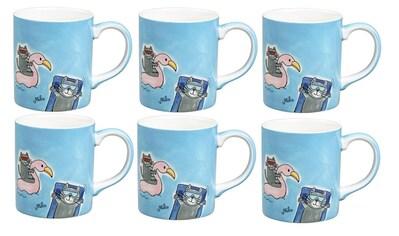 Mila Cappuccinotasse »Summer Cats 180 ml« kaufen