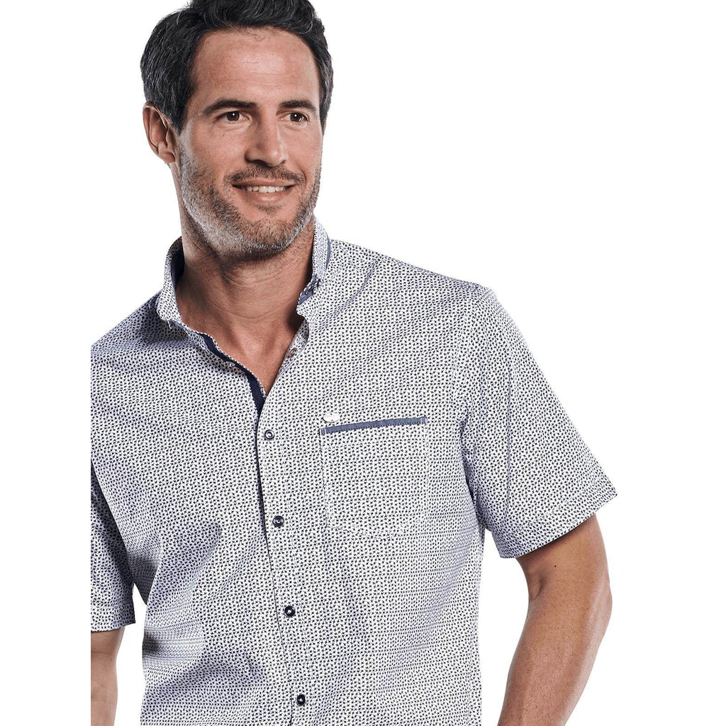 Engbers Hemd mit stylischer Musterung im Minimaldesign