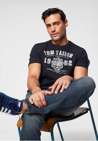 TOM TAILOR T-Shirt, mit Logofrontprint kaufen