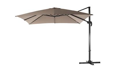 Sonnenschirm »300 x 300 cm, Aluminium, hängend, Taupe« kaufen