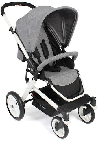 CHIC4BABY Sport-Kinderwagen »Boomer, Melange Grau«, 15 kg, ; Kinderwagen, Buggy,... kaufen