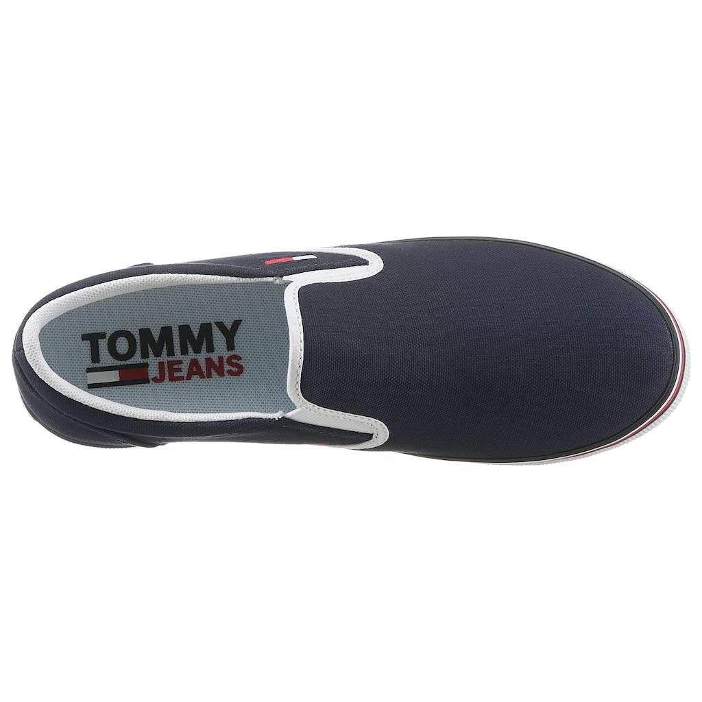 Tommy Jeans Slip-On Sneaker »ESSENTIAL SLIP ON SNEAKER«, mit Logostickerei