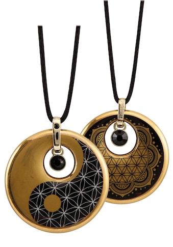 Goebel Kette mit Anhänger »Lotus, Ying Yang, 23120231«, mit Strass® Kristallen kaufen