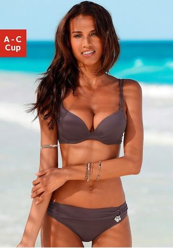 s.Oliver Push-Up-Bikini, mit Zierring an der Hose kaufen
