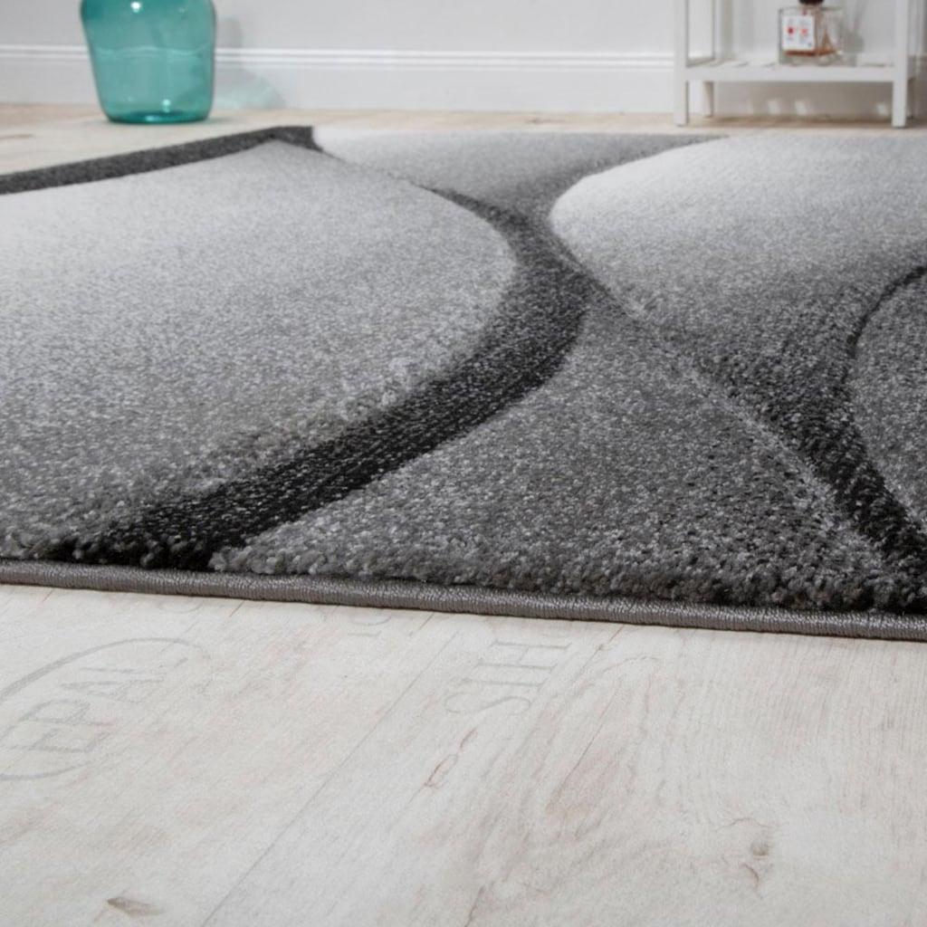 Paco Home Läufer »Diamond 666«, rechteckig, 18 mm Höhe, Teppich-Läufer, Kurzflor, gewebt, 3D-Design, mit Wellen Muster