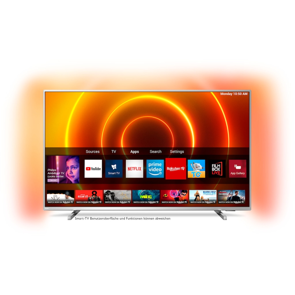 "Philips LED-Fernseher »50PUS8105/12«, 126 cm/50 "", 4K Ultra HD, Smart-TV, 3-seitiges Ambilght"