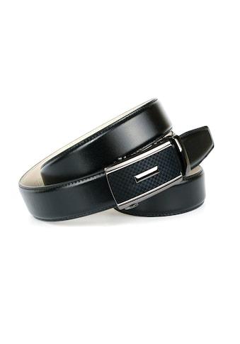 Anthoni Crown Ledergürtel, Stilvoller Ledergürtel mit stufenloser Weitenregulierung kaufen