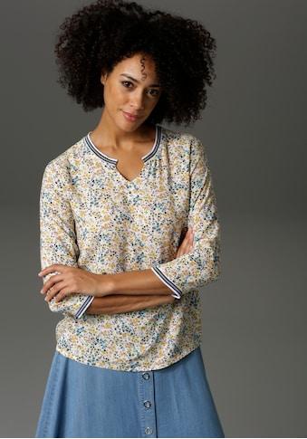Aniston CASUAL Shirtbluse, mit gestreiften Bündchen kaufen
