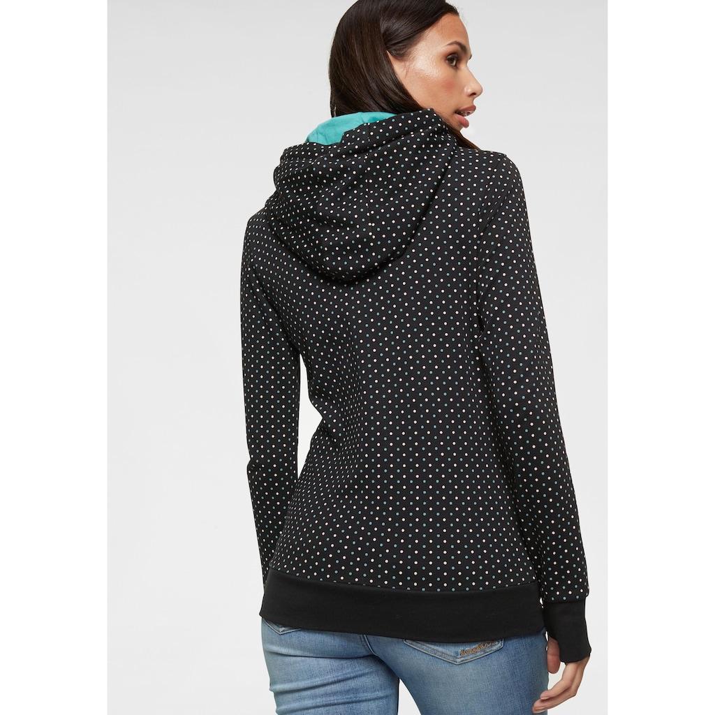 KangaROOS Kapuzensweatshirt, mit überlappendem Kapuzen-Kragen