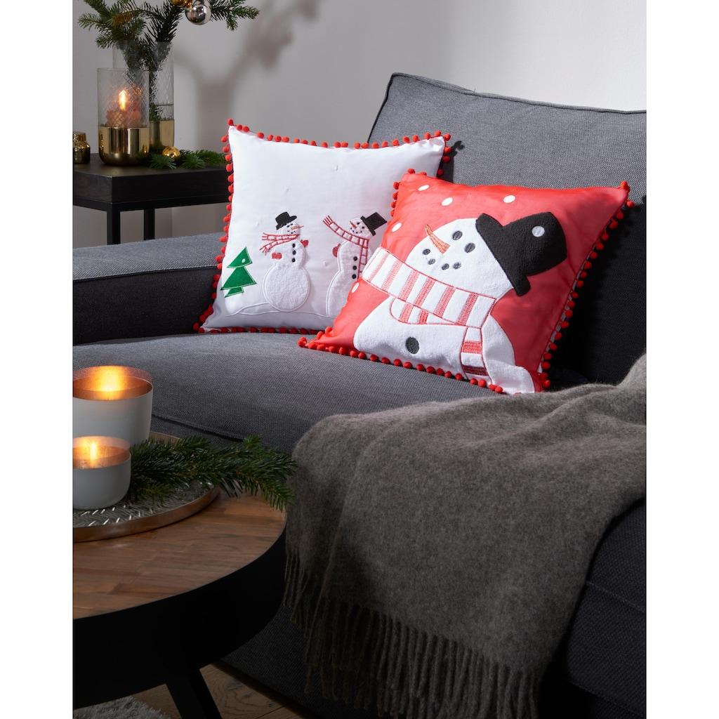 my home Kissenhülle »Schneemänner«, (1 St.), Weihnachtsdeko