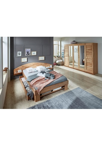 Home affaire Stauraumbett »Padua«, in Kernbuche oder Eiche inklusive Bettkasten kaufen