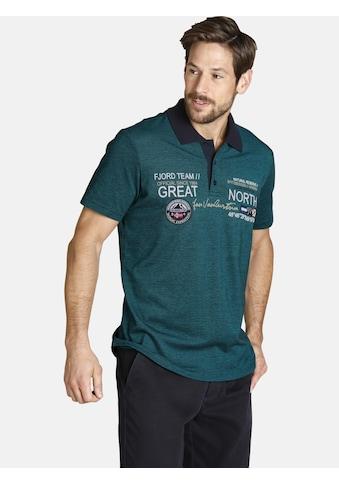 Jan Vanderstorm Poloshirt »SIMO«, mit schönem Farbeffekt kaufen