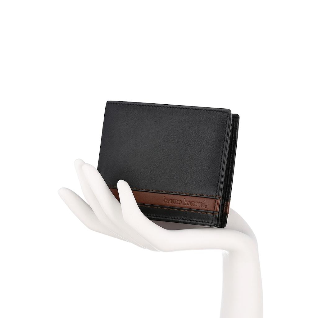 Bruno Banani Geldbörse, aus echtem Leder im Querformat