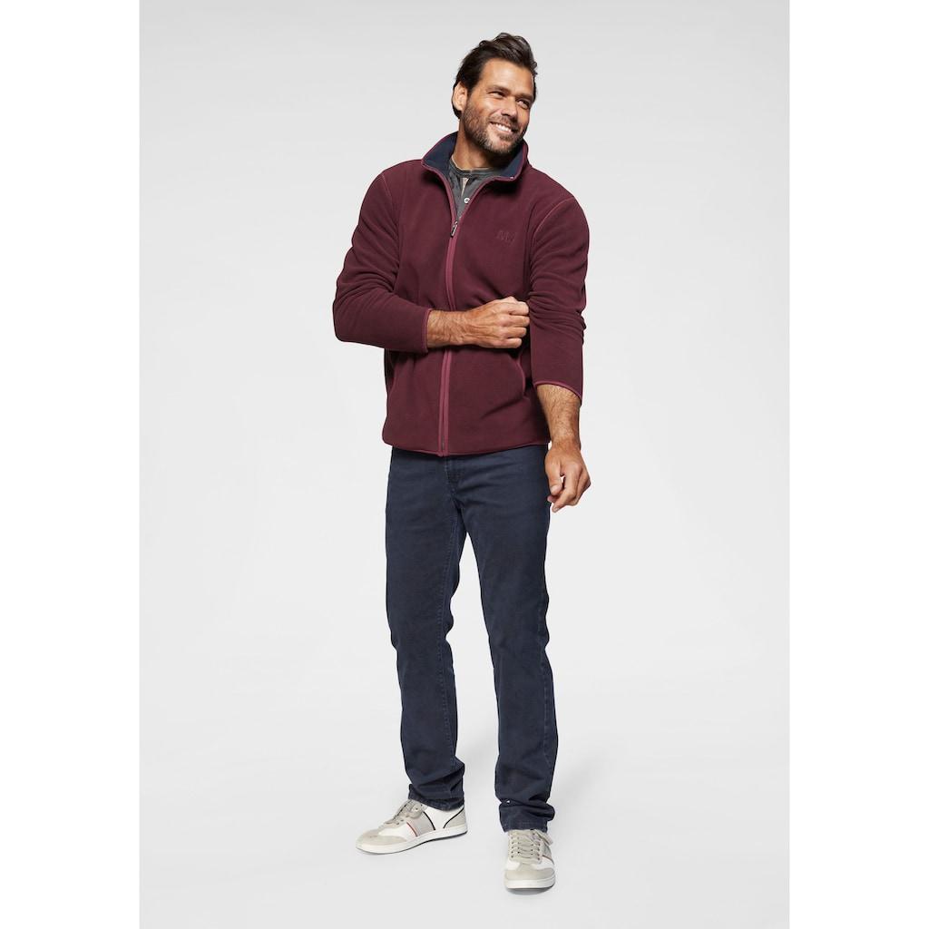 Man's World Henleyshirt, mit kontrastfarbenen Nähten