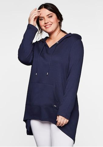 Sheego Longshirt, mit Kängurutasche, im Vokuhila-Schnitt kaufen