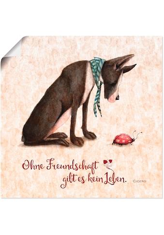 Artland Wandbild »Lebensweisheit Freundschaft«, Tiere, (1 St.), in vielen Grössen &... kaufen