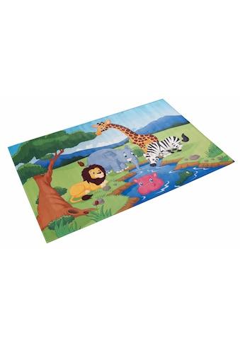 Böing Carpet Kinderteppich »Lovely Kids 403«, rechteckig, 6 mm Höhe, Motiv Dschungeltiere kaufen