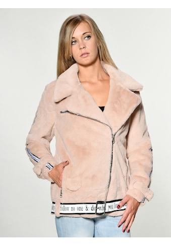 Maze Fake Fur Jacke mit asymmetrischem Reissverschluss kaufen