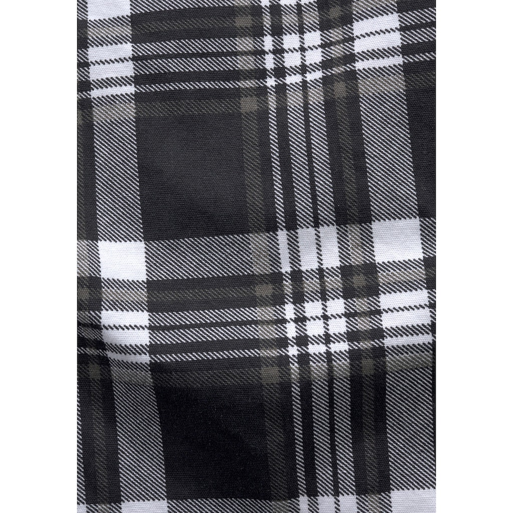Arizona Bermudas, (Set, 2 tlg.), in coolem Karo mit Textilgürtel