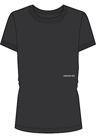 Calvin Klein Jeans Rundhalsshirt »MICRO BRANDING OFF PLACED TEE«, mit Calvin Klein... kaufen