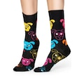 Happy Socks Socken »Dog«, mit bunten Hundegesichtern