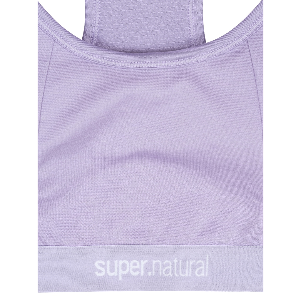 SUPER.NATURAL Funktionstop »W YOGA BUSTIER«, atmungsaktiver Merino-Materialmix