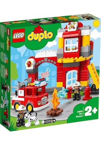 """LEGO® Konstruktionsspielsteine """"Feuerwehrwache (10903), LEGO® DUPLO™"""", Kunststoff, (76 - tlg.) kaufen"""