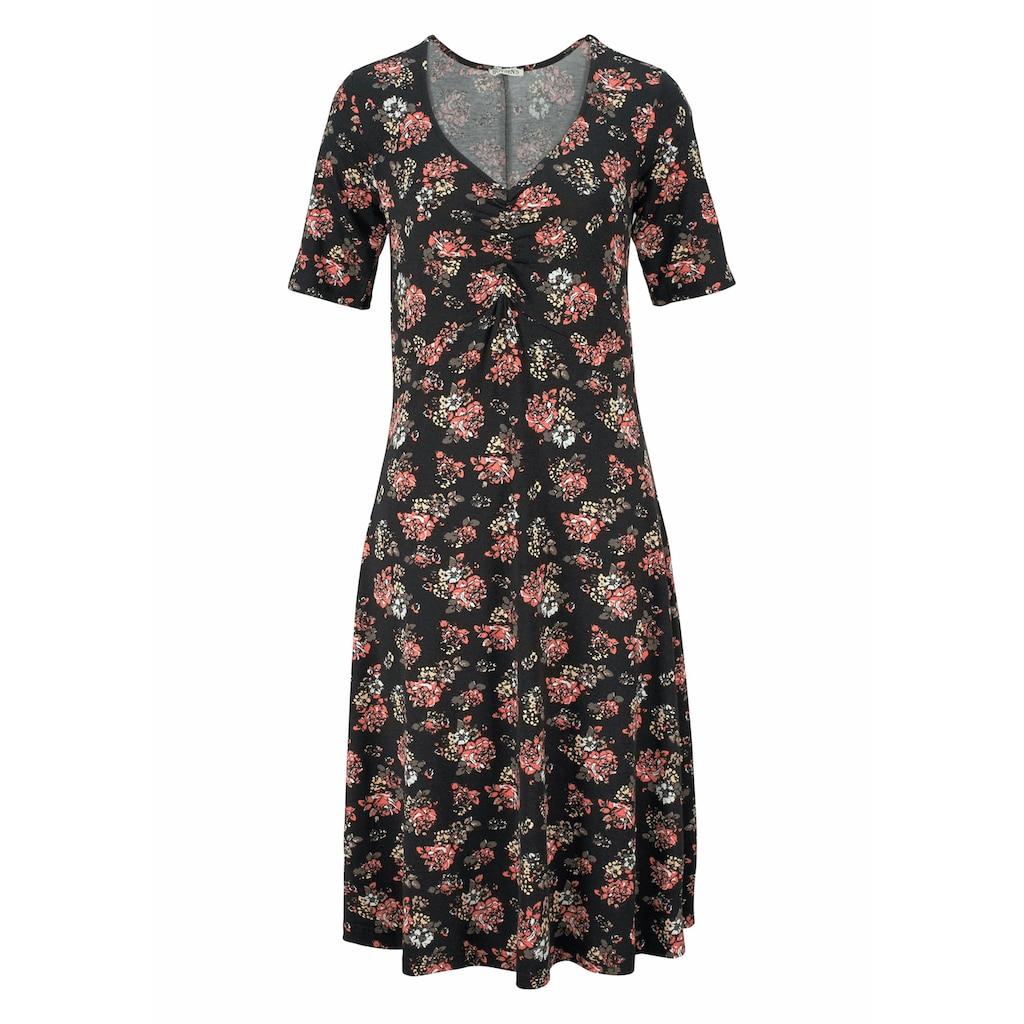Boysen's Jerseykleid, mit weit schwingendem Saum