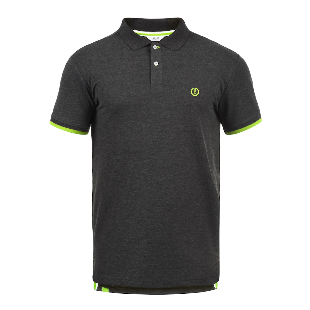 Solid Poloshirt »BenjaminPolo«, Polo mit verlängerter Rückenpartie
