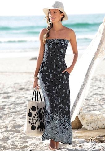 s.Oliver Beachwear Maxikleid, mit Bordürenprint kaufen