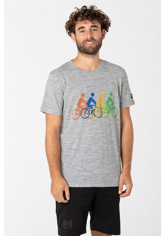 SUPER.NATURAL T-Shirt »M RIDE TOGETHER TEE«, Hohe Sichtbarkeit durch reflektierendes... kaufen