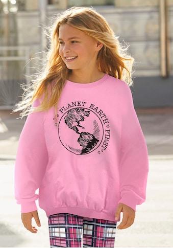 Arizona Sweatshirt »PLANET  EARTH  FIRST«, in extra weiter Form kaufen