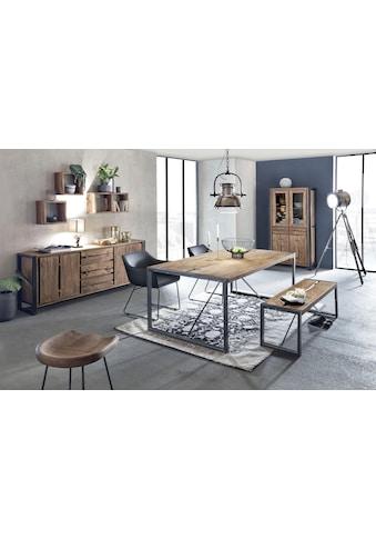 SIT Esstisch »Live Edge«, aus massiver Akazie, mit Metallgestell kaufen