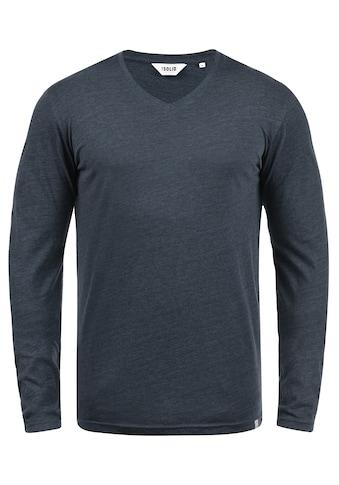 Solid Langarmshirt »Beda«, Longsleeve mit V-Ausschnitt kaufen