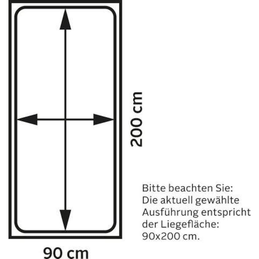 Lüttenhütt Hochbett »Alpi«, aus massivem Kiefernholz, inklusive Leiter und Panel, Aussenmassenbreite 103 cm