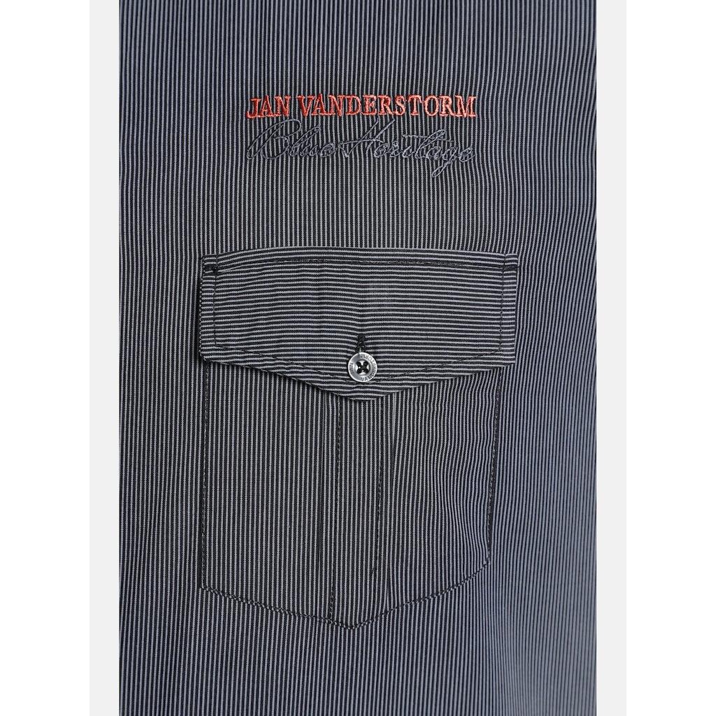 Jan Vanderstorm Kurzarmhemd »AABEL«, Baumwollhemd, Comfort Fit
