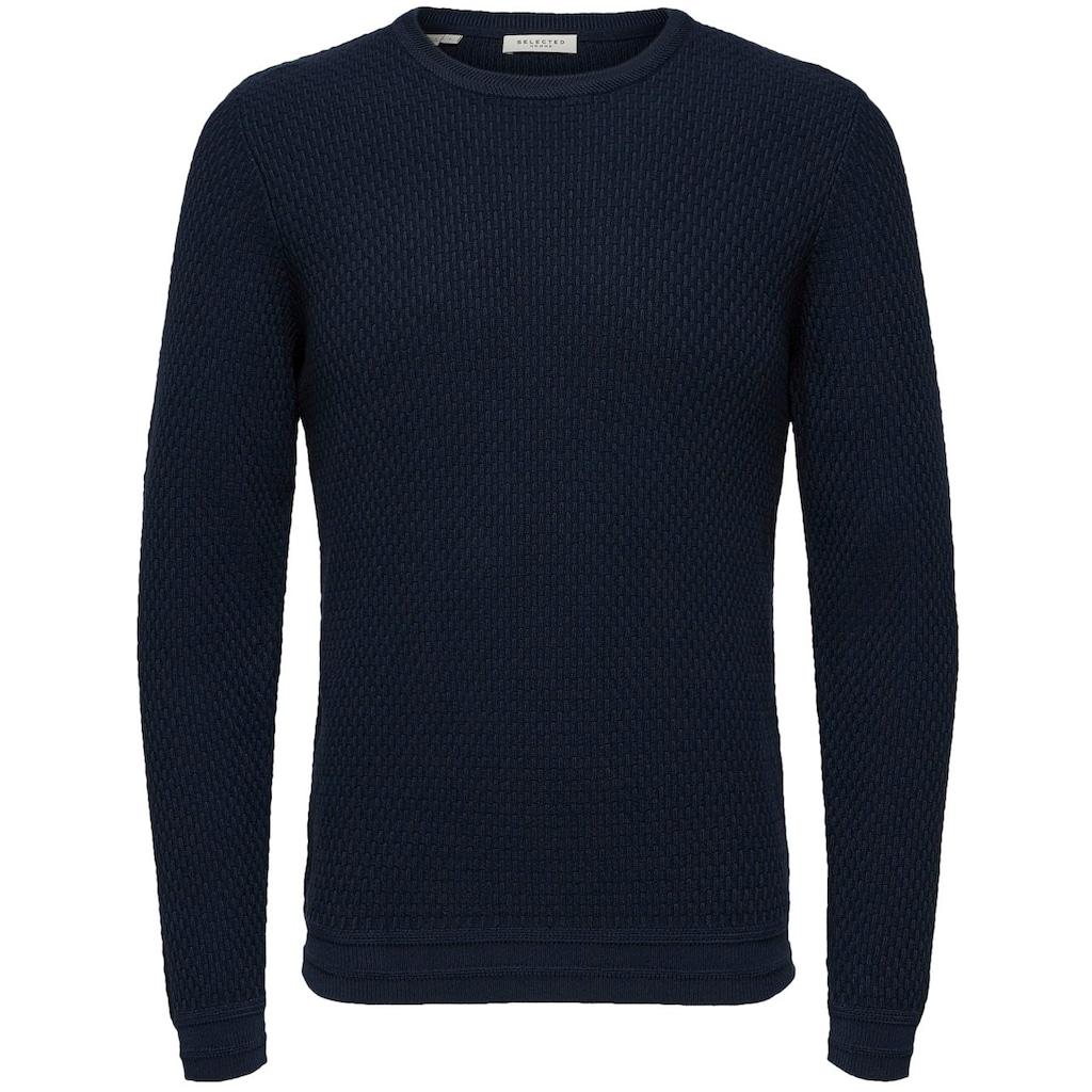 SELECTED HOMME Rundhalspullover »OLIVER CREW NECK«