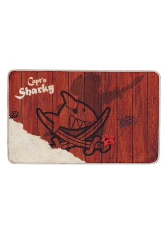 Capt`n Sharky Fussmatte »H-304«, rechteckig, 2 mm Höhe, Schmutzfangmatte,... kaufen