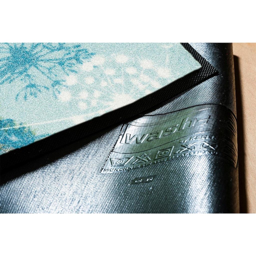 wash+dry by Kleen-Tex Fussmatte »Leone«, rechteckig, 7 mm Höhe, Schmutzfangmatte